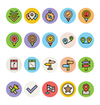 Map and Navigation Icons 4 vector image