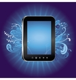 concept with tablet pc with empty screen vector image vector image