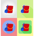 baby flat icons 12 vector image vector image