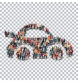 car people sign 3d vector image