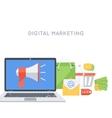 Digital marketing background vector image