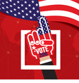 Hand Foam Vote 2016 vector image