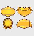 Set of gold retro badges vector image