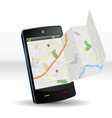 street map on smartphone mobile device vector image