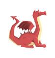 dragon guard mythical and fantastic animal vector image