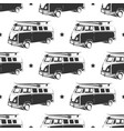 retro bus with surf seamless pattern vector image vector image
