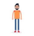 cartoon full-length man isolated vector image vector image