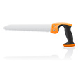 tool saw 03 vector image vector image