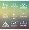 Vintage Labels With Retro Typography for Mens vector image