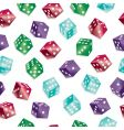 dice pattern vector image vector image