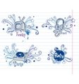 Page of music doodles vector image vector image