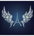 pray for Paris 13 November 2015 vector image vector image