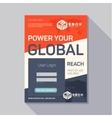 Promotional flyer leaflet tech design modern trend vector image