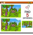 kindergarten task of differences vector image