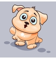 Dog is surprised vector image