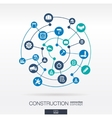Construction network Abstract background with vector image