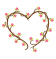 love floral doodle vector image vector image