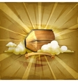 Ancient book old style background vector image