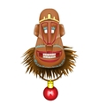 Christmas fun monkey mask a symbol of the coming vector image