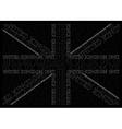 Monochrome United Kingdom Text Flag vector image