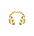 headphone computer symbol vector image
