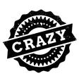 Crazy stamp rubber grunge vector image