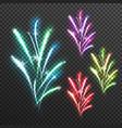 light effects fireworks transparent composition vector image vector image