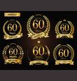 anniversary golden laurel wreath 60 years vector image vector image