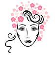 flowers woman vector image vector image