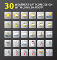weather flat icon design vector image vector image