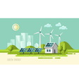 Green energy urban landscape ecology vector image