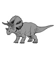 triceratops vector image vector image