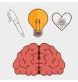 Human brain creative ideas vector image