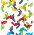 feet background vector image