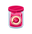 Gooseberry Jam In Transparent Jar vector image