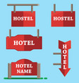hotel signboard icons setflat style vector image