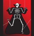 Human Skeleton halloween vector image