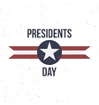 Presidents Day Label with Text vector image
