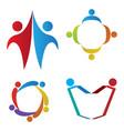 set of teamwork logos vector image