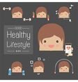 Sport exercise workout vector image