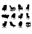 victorian chair silhouettes vector image