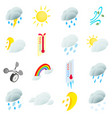 Weather set icons vector image