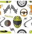 Car Racing pattern vector image