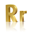 Golden letter R vector image vector image