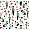 viral diseases seamless pattern - medicinal vector image