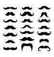 Set of men mustaches for design photo booth vector image