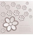 modern flowers background vector image vector image