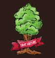 Hand drawn sketch of a tree vector image