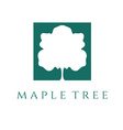 abstract maple tree design template vector image