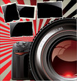 Retro background - professional camera Vector Image